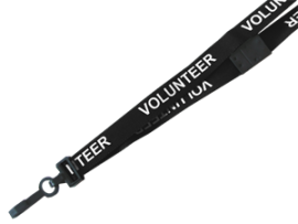 VOLUNTEER Break Away Lanyard With Plastic Hook 15mm Wide