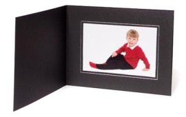 10x8 / 8x10 09 Series Black & Silver Photo Folder - Landscape