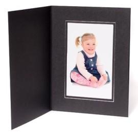 7x5 / 5x7 09 Series Black & Silver Photo Folder - Portrait