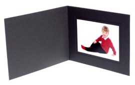 9x6 / 6x9 Black Karnival Photo Folder - Landscape