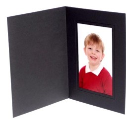 6x4 / 4x6 Black Karnival Photo Folder - Portrait