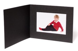10x8 / 8x10 Rhapsody Black Photo Folder - Landscape