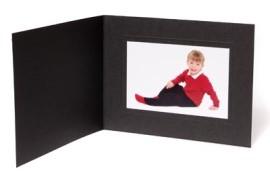 8x6 / 6x8 Rhapsody Black Photo Folder - Landscape