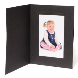 8x6 / 6x8 Rhapsody Black Photo Folder - Portrait