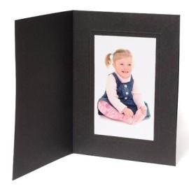 10x8 / 8x10 Rhapsody Black Photo Folder - Portrait