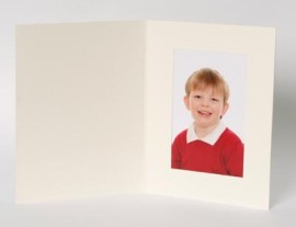 7x5 / 5x7 Rhapsody Ivory / Cream Photo Folder - Portrait