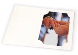 8x10 / 10x8 White Cut Corner Folders Portrait Box of 100