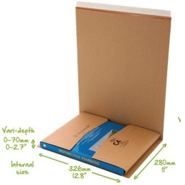 C4 Book Wrap (Bukwrap) Mailer Postal Boxes 326x280x70mm
