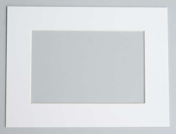 6x4 / 4x6 White Photo Mount To Fit 8x6 / 6x8 Frame