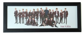 8x24 Panormamic Black Photo Frame