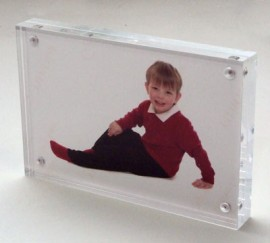 4x6 / 6x4 Acrylic Magnetic block photo frame