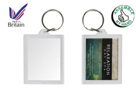 Insert your own photo keyring