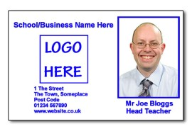 Staff Photo ID Card (Ideal for Schools or Businesses) - Basic Blue