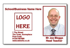 Staff Photo ID Card (Ideal for Schools or Businesses) - Basic Burgandy
