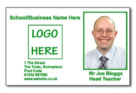 Staff Photo ID Card (Ideal for Schools or Businesses) - Basic Green