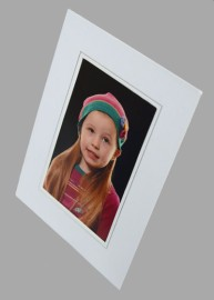 8x12 / 12x8 White & Silver Strut Photo Mount From £1.22
